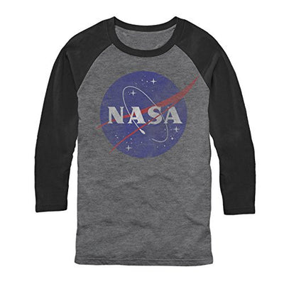 NASA Logo Mens Graphic Baseball Tee - Generation T