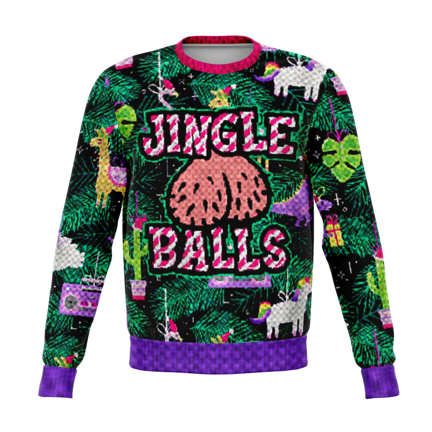 Jingle Balls - Fashion Ugly Christmas Sweatshirt All Over Print