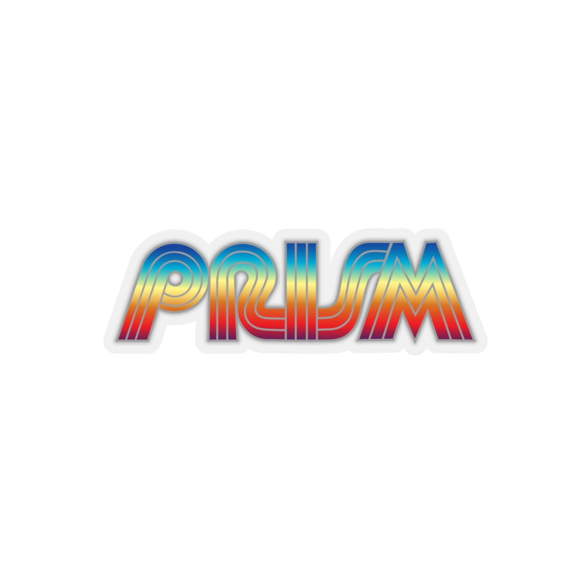Retro Prism TV Kiss-Cut Stickers