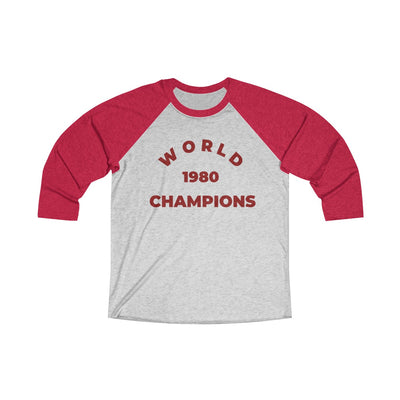 1980 World Champs Phils Inspired Unisex Tri-Blend 3/4 Raglan Tee