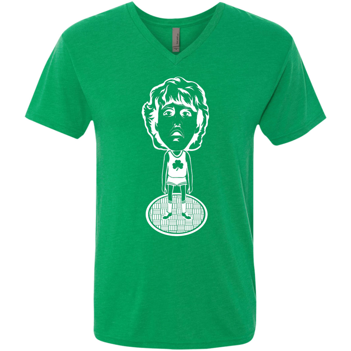 80s Boston Hoops Bobblehead Men's Triblend V-Neck Tee - Generation T