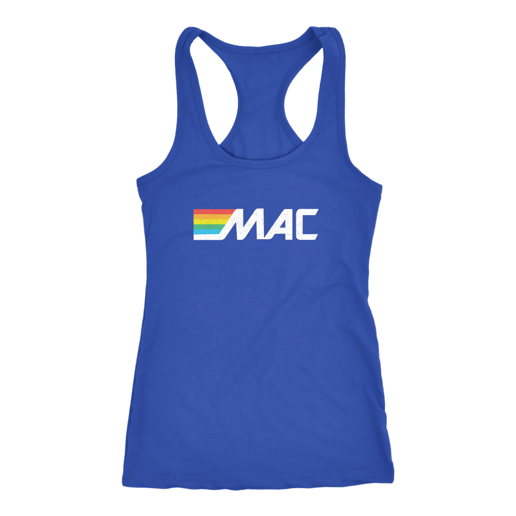 80s MAC ATM Ladies Racerback Tank Top