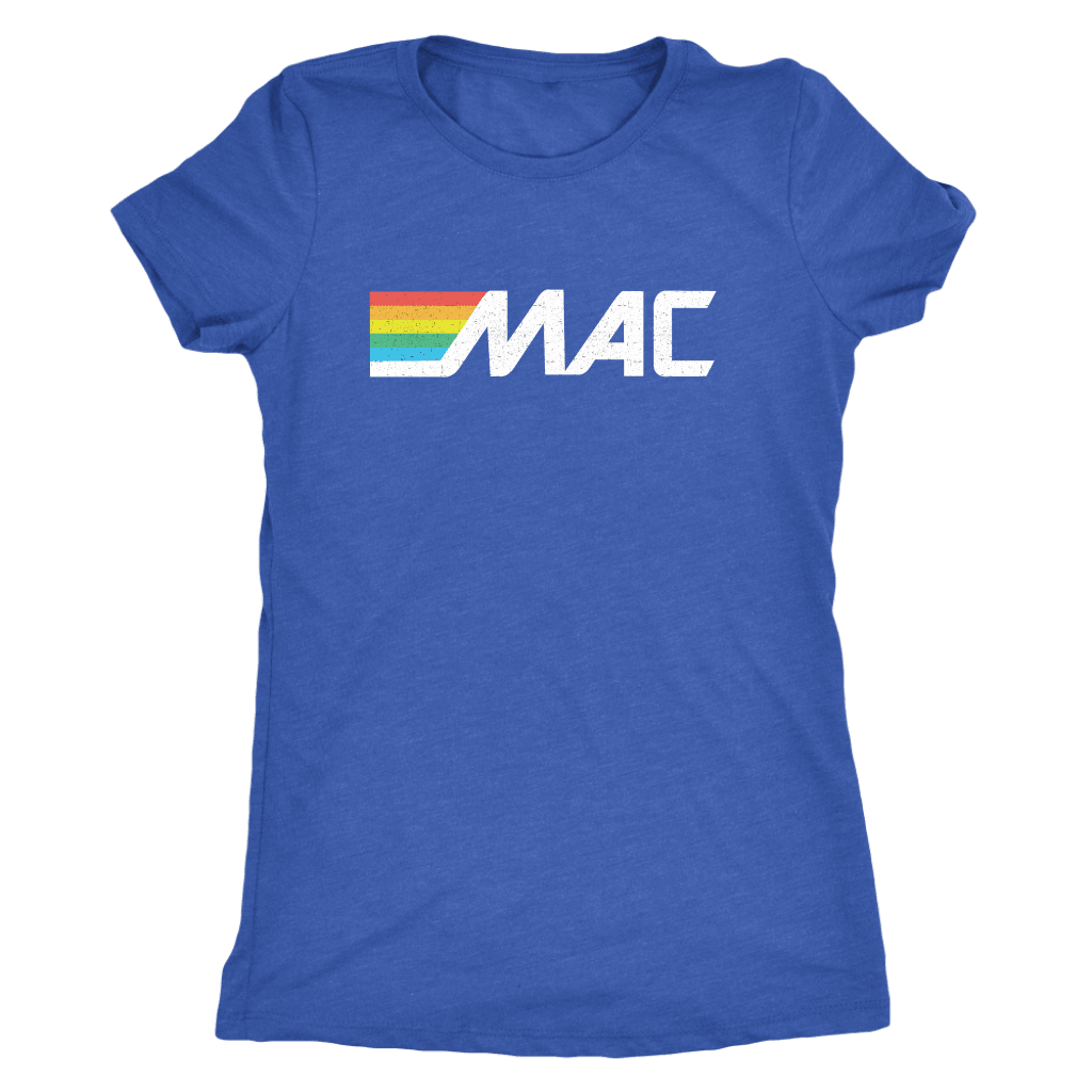 80s MAC ATM Ladies Triblend T-Shirt
