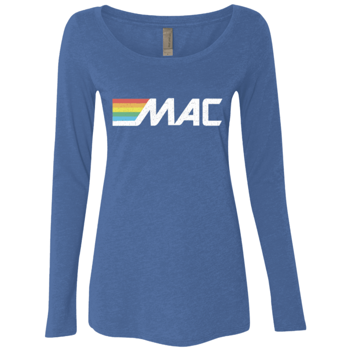 80s MAC Machine Ladies' Triblend LS Scoop - Generation T