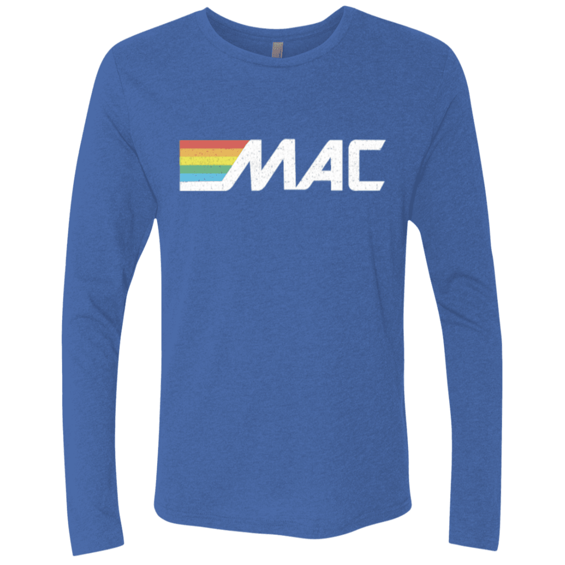 80s MAC Machine Men's Triblend LS Crew - Generation T