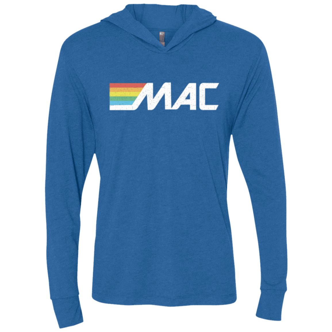 80s MAC Machine Unisex Triblend LS Hooded T-Shirt - Generation T