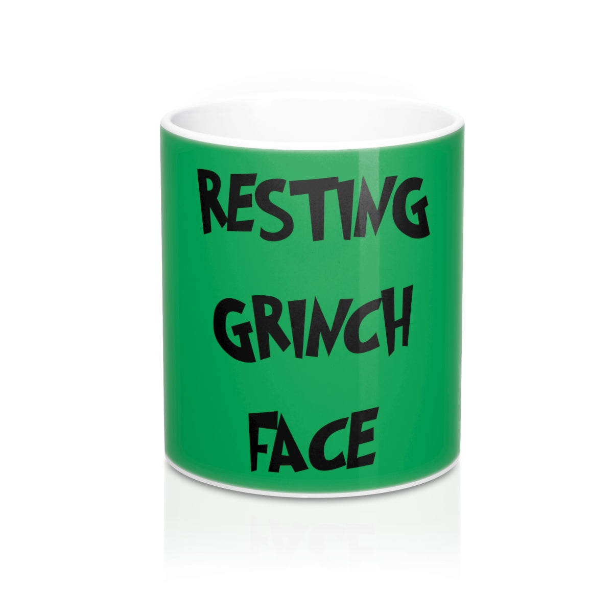 Resting Grinch Face Mug 11oz