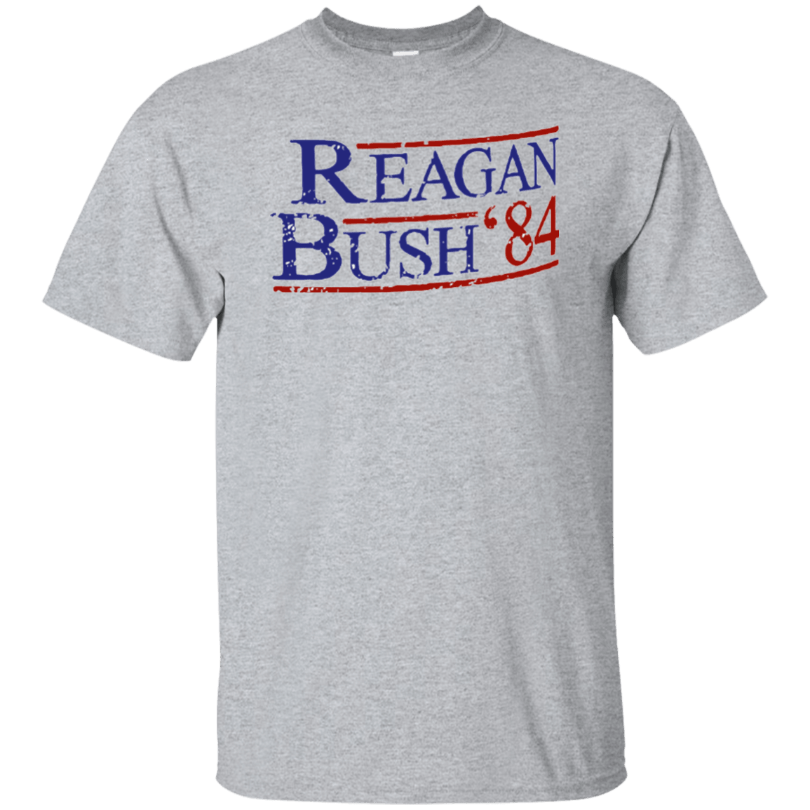 84 Reagan Bush Grey Ultra Cotton T-Shirt - Generation T