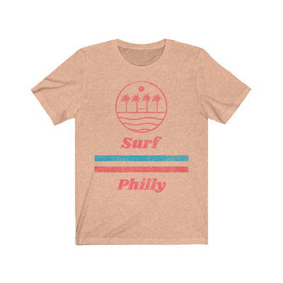 70s Retro Surf Philly Unisex Jersey Short Sleeve Tee