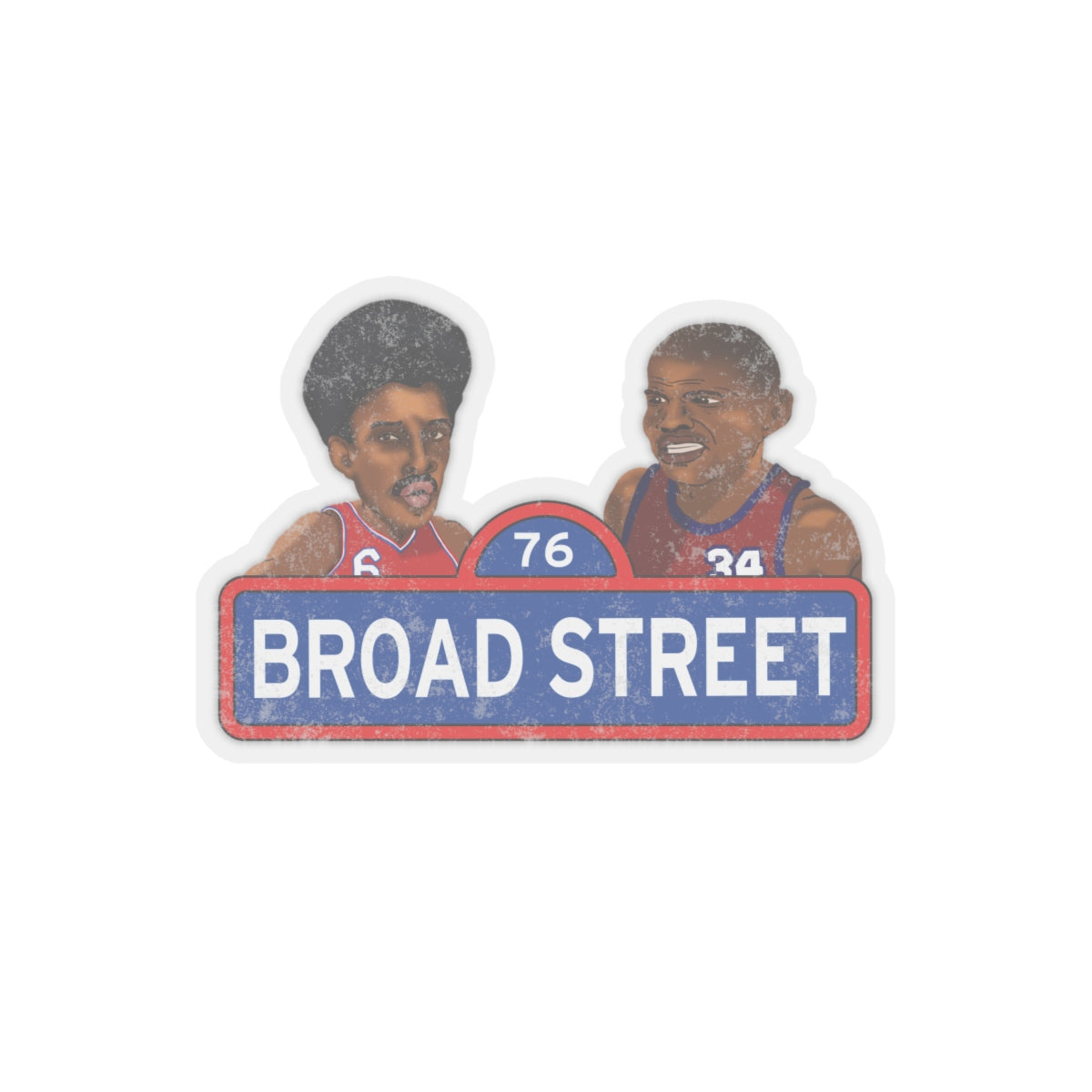Broad Street Basketball Kiss-Cut Stickers