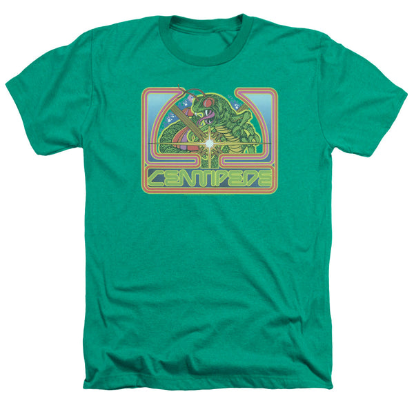 Mens Atari Centipede Green Heather Tee Shirt