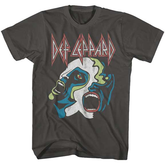 Mens Def Leppard Hysteria Faces T-Shirt