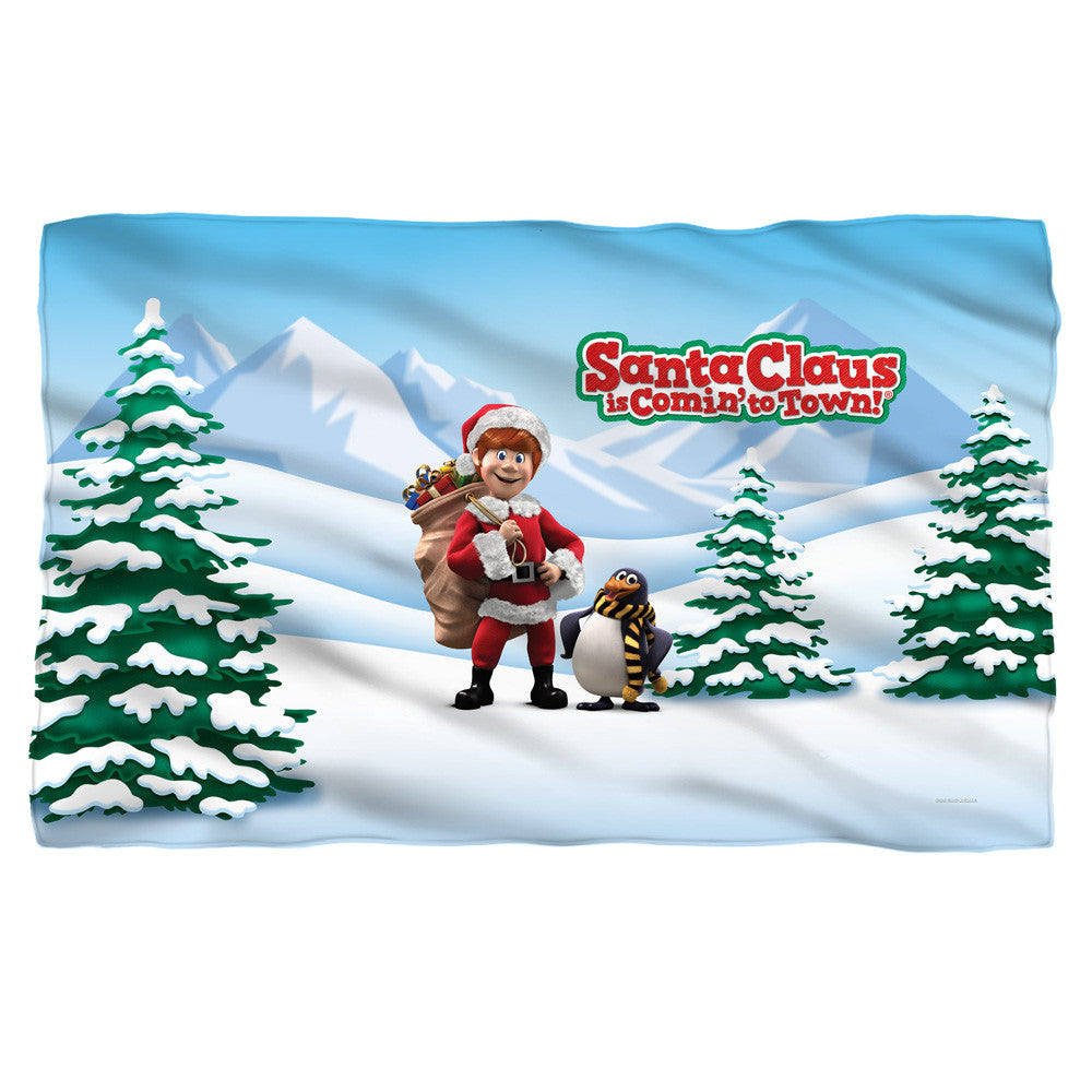 Santa Claus is Coming to Town/Kris and Topper  Fleece Blanket - Generation T