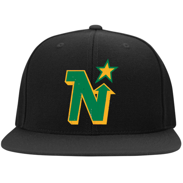 Minnesota North Stars Inspired Flat Bill High-Profile Snapback Hat