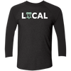 Philly is Local Football Edition Tri-Blend 3/4 Sleeve Baseball Raglan T-Shirt