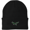 Retro Neon Old School Birds Football Knit Cap