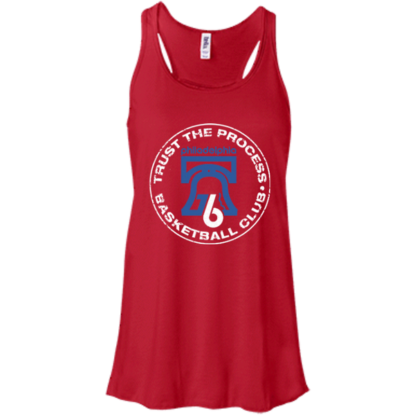 Red Trust the Process Flowy Racerback Tank