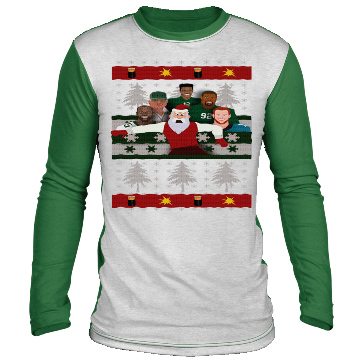 A Philly Football Christmas Ugly Christmas 'sweater' Long Sleeve