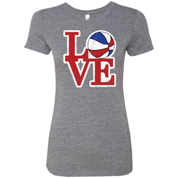 Philly Hoops Love Ladies' Triblend T-Shirt