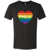 Philly Pride Heart Men's Triblend T-Shirt