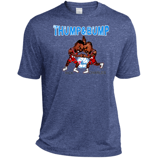 Thump and Bump Heather Dri-Fit Moisture-Wicking T-Shirt