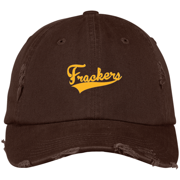 Brockmire Frackers Inspired Distressed Embroidered Dad Cap