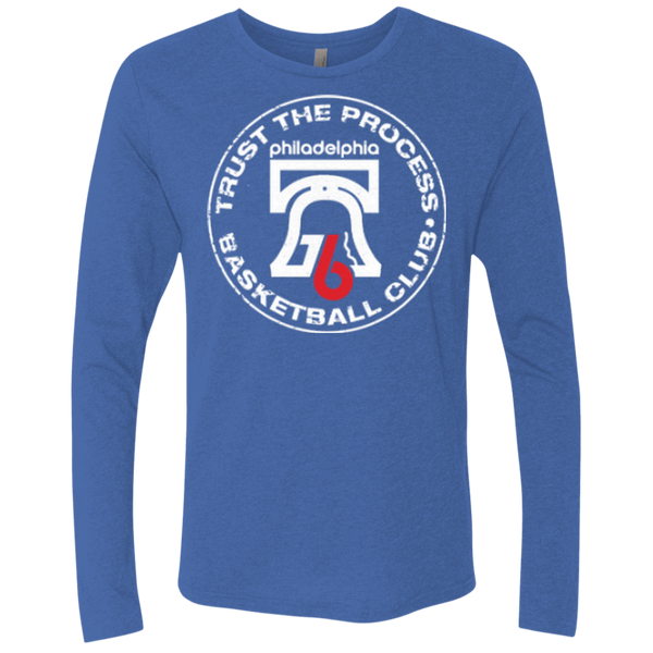 Trust the Process Hoops Club Men's Triblend LS Crew