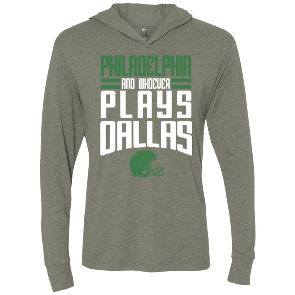 Whoever Plays Dallas Unisex Triblend LS Hooded T-Shirt
