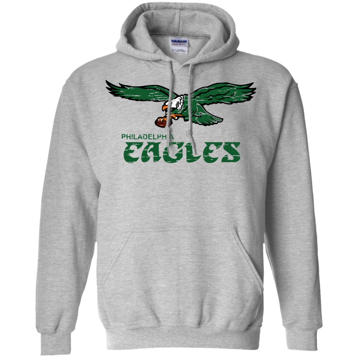 Retro Philadelphia Eagles Inspired Pullover Hoodie