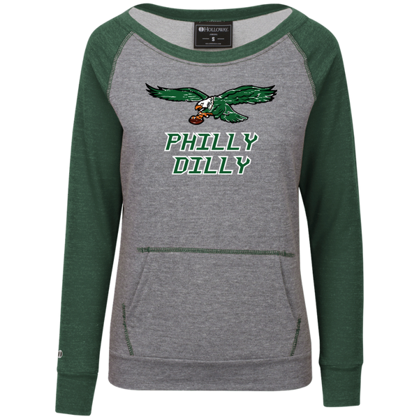 Philly Dilly Womens Vintage Terry Fleece Crew
