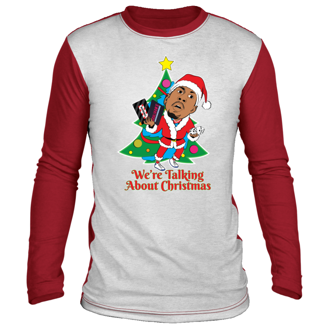 We're Talking About Christmas AI Ugly Christmas 'sweater' Long Sleeve