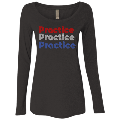 Philly Practice Ladies' Triblend Long Sleeve Scoop