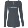 Wooder Ice College Ladies' Triblend Long Sleeve Scoop