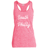 Retro South Philly Ladies' Moisture Wicking Electric Heather Racerback Tank