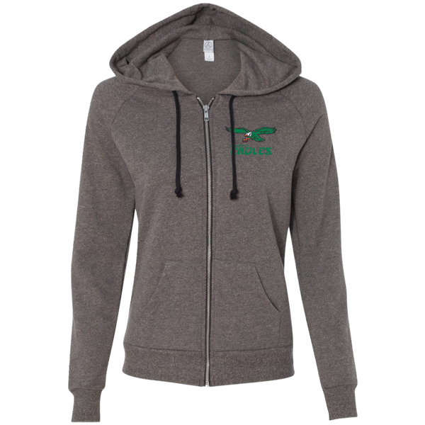 Retro Eagles Inspired Alternative Ladies' French Terry Full Zip - Generation T