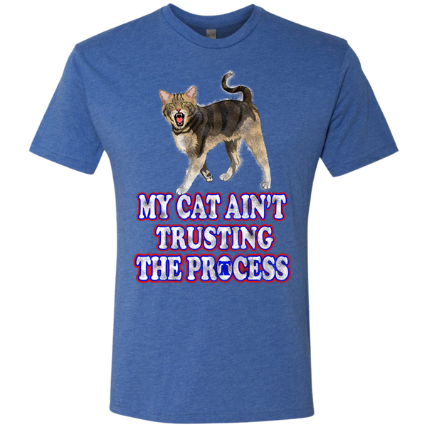 My Cat Hates the Process Men's Tri-Blend Tee - Generation T
