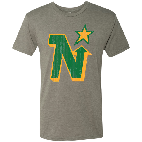 Minnesota North Stars Inspired Retro Men's Tri-Blend Tee