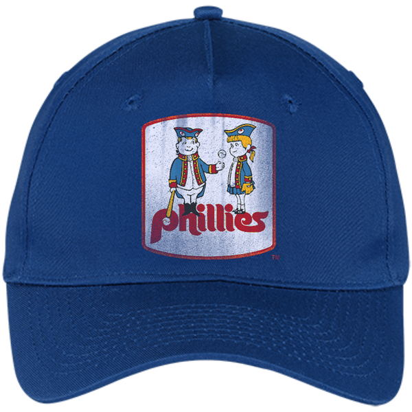 Retro Phillies Inspired Phil and Phyllis Five Panel Twill Cap - Generation T