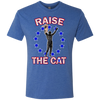 Raise The Cat Philly Hoops Inspired Men's Tri-Blend Tee - Generation T