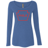 Philly is PA Hoops Edition Ladies' Triblend Long Sleeve Scoop