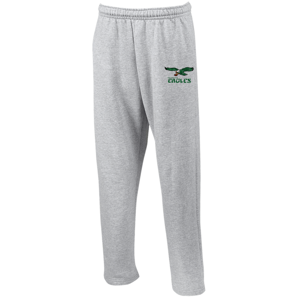 Retro Philadelphia Eagles Inspired Open Bottom Sweatpants with Pockets