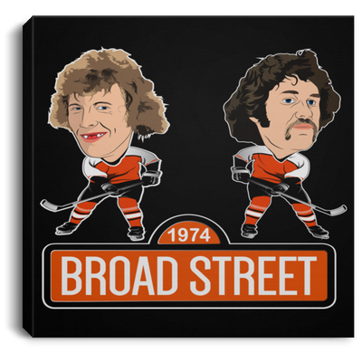 Broad Street Hockey Square Canvas