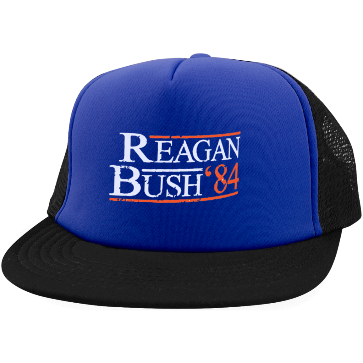 61edc9f958b9e Reagan Bush 84 Embroidered Trucker Hat with Snapback - Generation T