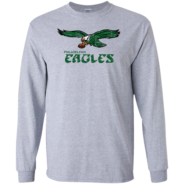 Retro Philadelphia Eagles Inspired Long Sleeve Ultra Cotton T-Shirt