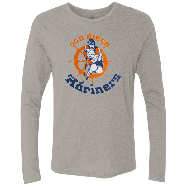San Diego Mariners Retro Men's Triblend Long Sleeve Crew - Generation T