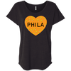 Philly Halloween Heart Ladies' Triblend Dolman Sleeve