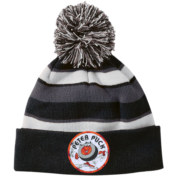 Peter Puck Circle Striped Beanie with Pom - Generation T
