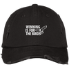 Winning is For The Birds Embroidered Distressed Dad Cap