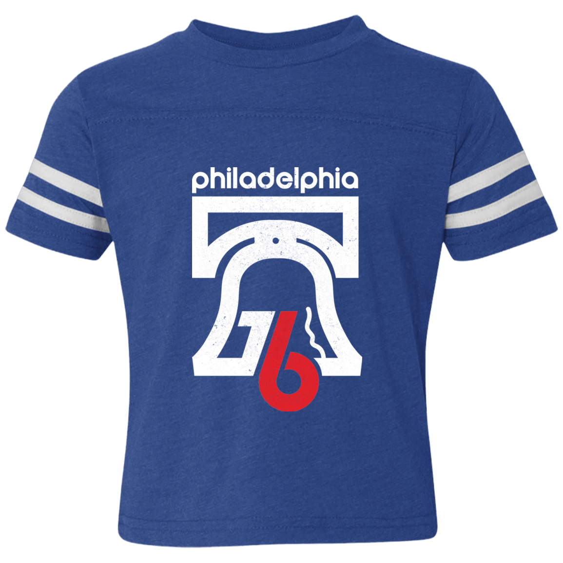 1976 Bicentennial Inspired Toddler Football Fine Jersey T-Shirt