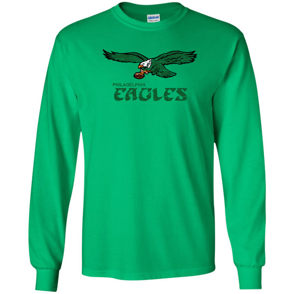Retro Philadelphia Eagles Inspired Youth Long Sleeve T-Shirt